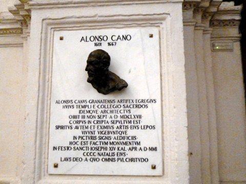 Lápida de Alonso Cano.
