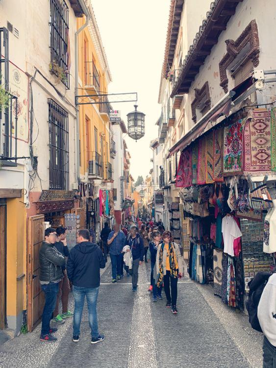 Calle Calderería Nueva Teterias Granada
