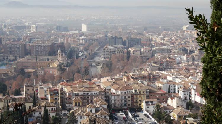 Vistas de Granada capital desde el Carmen