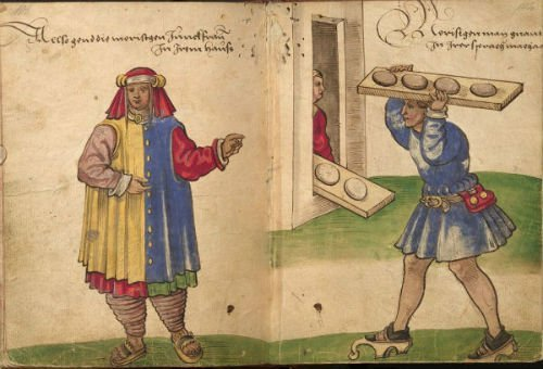 Panadero morisco y mujer morisca sin velo (almalafa).