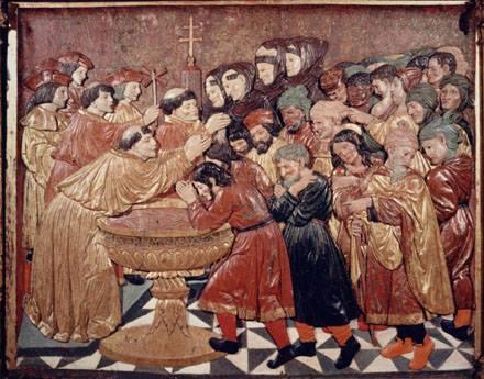 Bautismo de moriscos. Catedral de Granada.