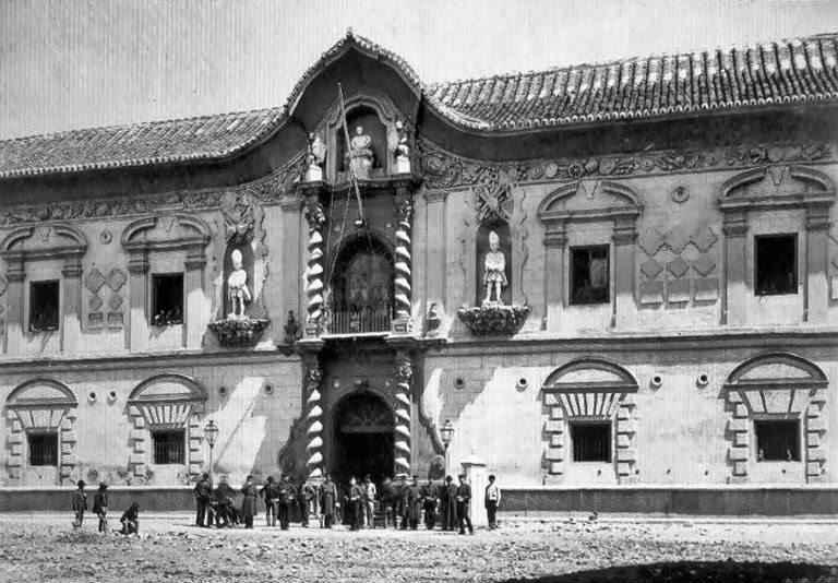 Puerta de los ladrilleros. El Palacio de Bibataubín. Granada