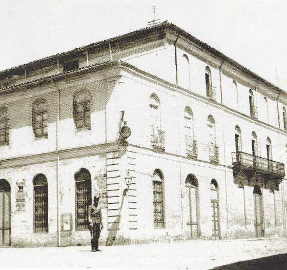 Edificio original del Teatro Isabel La Católica de la Plaza de los Campos.
