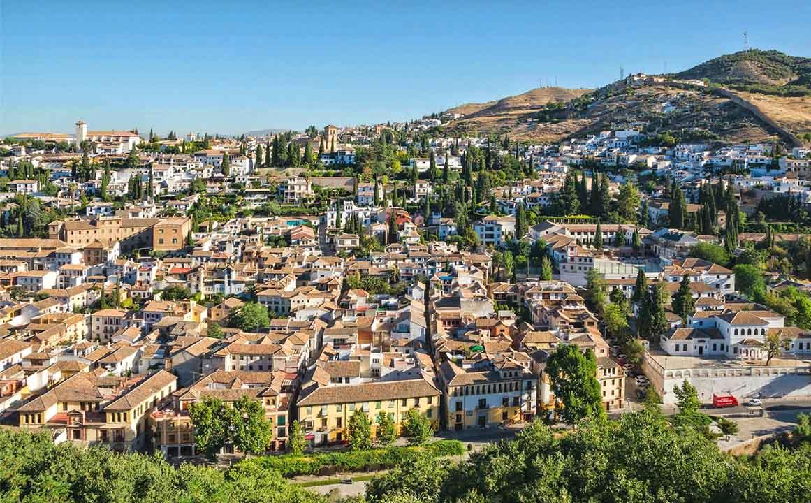 Vistas del Albaicín en Granada