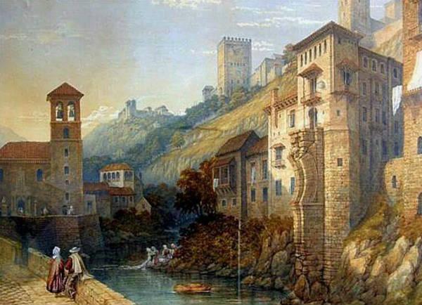 Pintura Romántica de la Carrera del Darro.