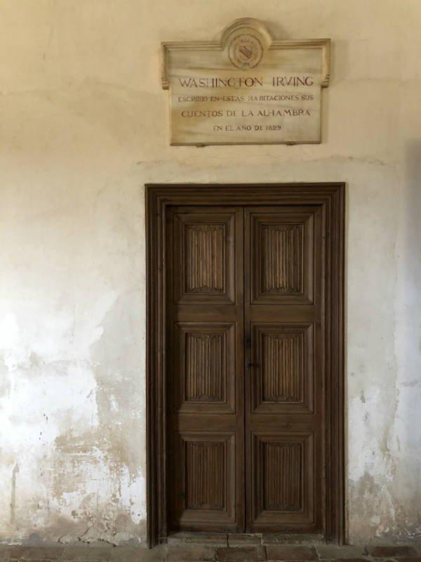 Habitación en la Alhambra donde habitó el escritor Washington Irving