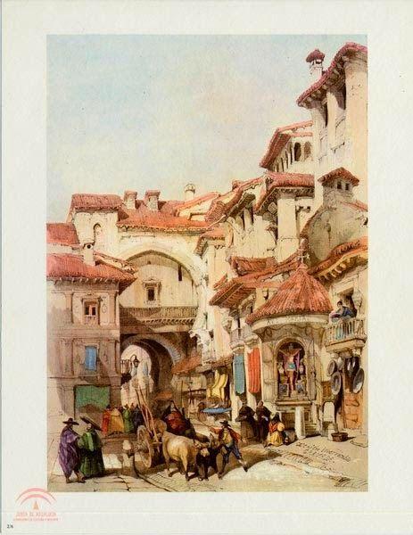 Grabado de David Roberts. Fuente Patronato de la Alhambra.
