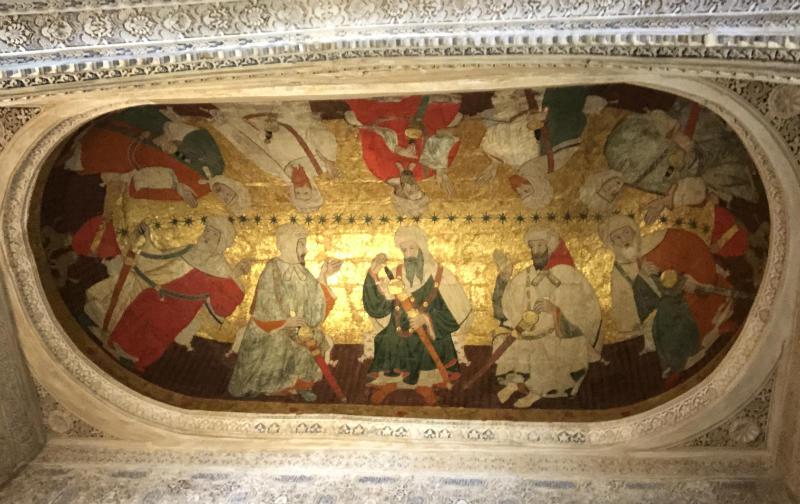 Pintura en el techo de la Sala de los Reyes, Alhambra.