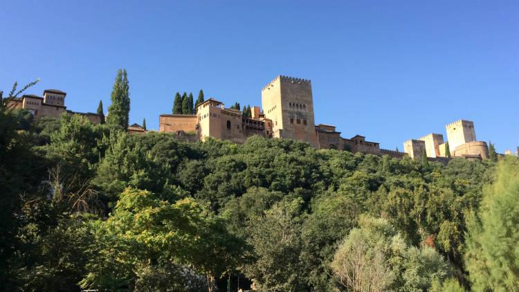 Vistas de la Alhambra desde el Paseo de los Tristes