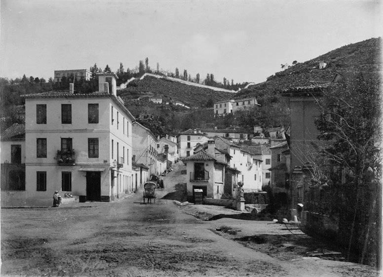 La cuesta de los Molinos en 1875 por José García Ayola