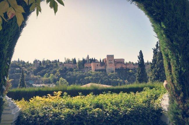 Vistas de la Alhambra desde el carmen