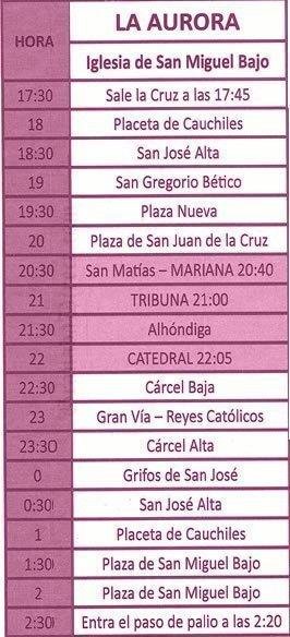 Jueves Santo en Granada. La Aurora