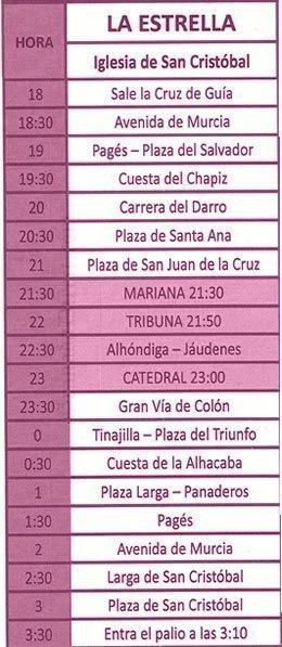 Jueves Santo en Granada. La Estrella
