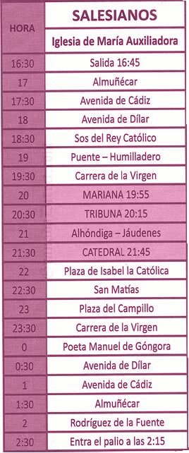 Jueves Santo en Granada. Los Salesianos