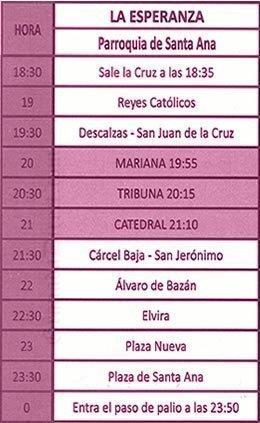 Martes Santo en Granada. La Esperanza