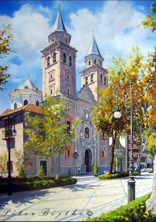 Fachada de la basílica de la virgen de las angustias granada