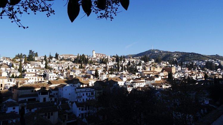 Vistas del Albaicín desde el Mirador de la Churra o Almanzora.