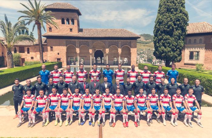 granada club de futbol en el Partal de la Alhambra