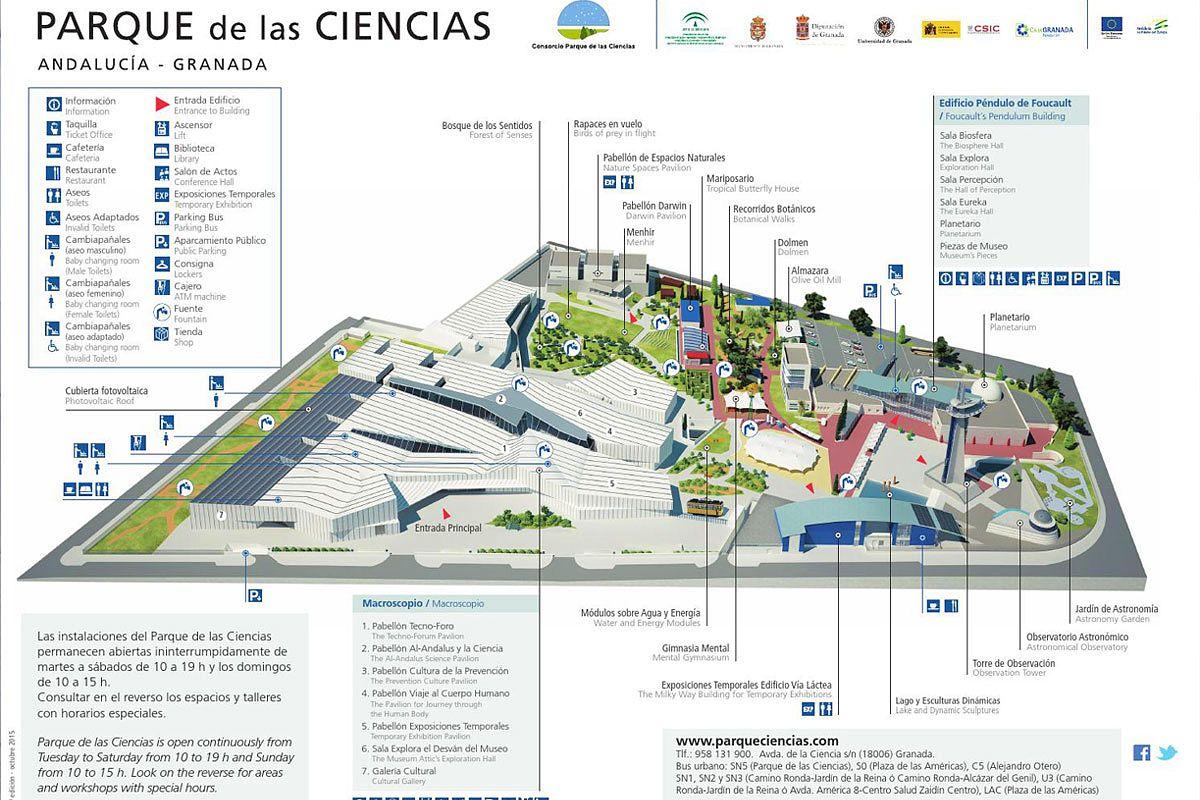 plano grafico parque de las ciencias granada