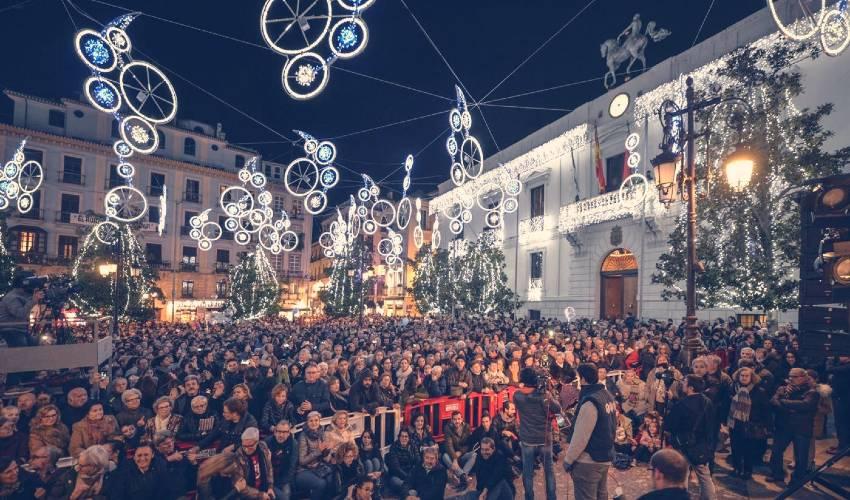 Nochevieja en la Plaza del Carmen. Ayuntamiento. @andaluciainformacion.es