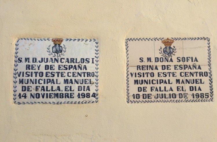 Placas de las visitas de los Reyes de España al Auditorio